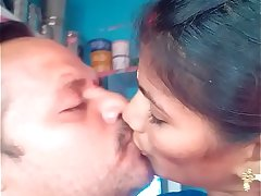 Hot Indian French Kissing Of Mature Couple